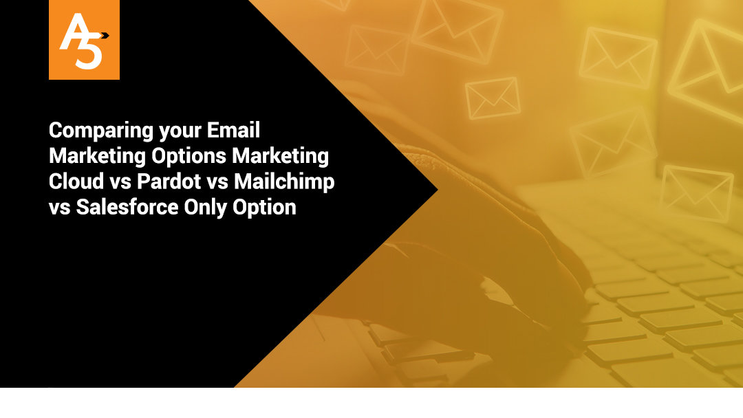 Comparing your Email Marketing Options Marketing Cloud vs Pardot vs Mailchimp  vs Salesforce Only Option